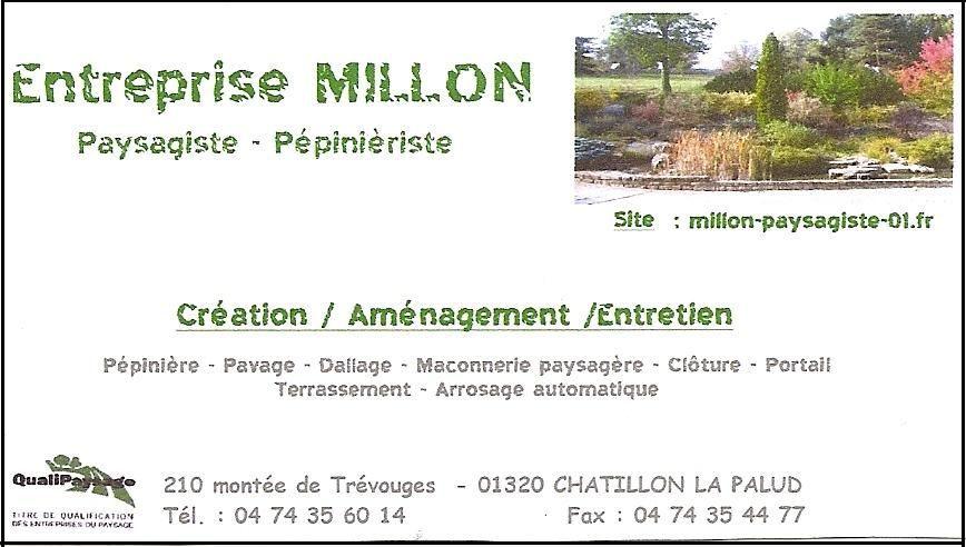 Entreprise millon paysagiste for Entreprise paysagiste